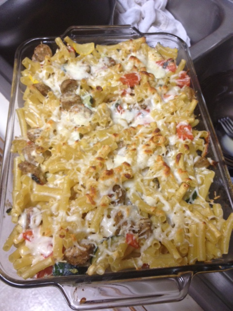 Falling in love with baked pasta (Baked Ziti with Summer ...