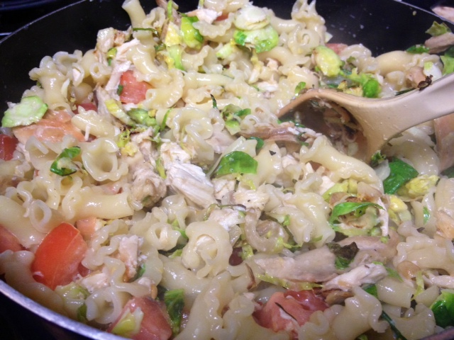 Pasta with Gorgonzola, Chicken, Brussels Sprouts ...