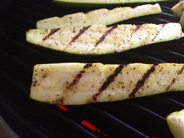 Grilled Zucchini with Lemon Salt - finding time for cooking