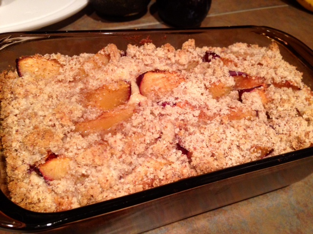 Plum And Almond Crumble Cake