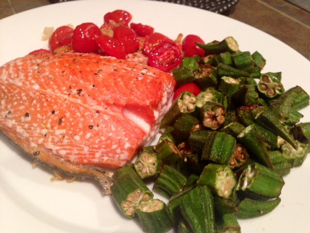 Roasted Salmon with Shallots & Tomatoes - finding time for ...